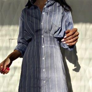 Ladies pinstripe midi dress